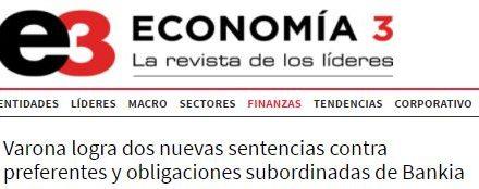 Economía 3 se hace eco de las últimas sentencias sobre preferentes a favor de dos SICAV