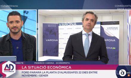 FEDERICO VARONA ANALIZA LA SITUACIÓN ECONÓMICA EN À PUNT DIRECTE